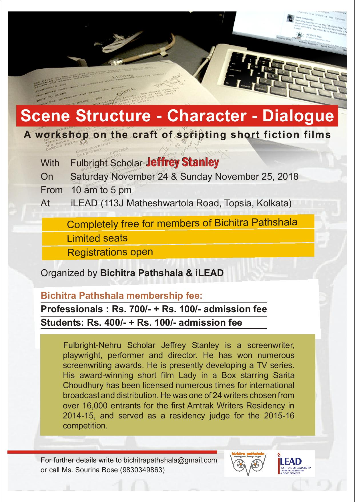 Script writing workshop poster